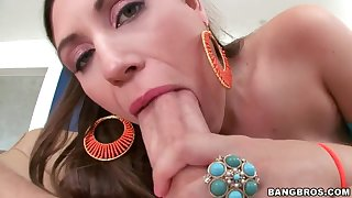 Worshipped brunette Rucca Page got huge boobs and seductive sexy shaped fabrication and great naughty ability concerning fucking.