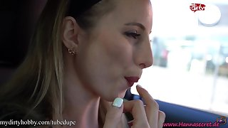 MyDirtyHobby - Hanna Secret getting teased while in a drive thru naked