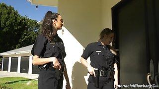 Good cissified cop Eliza Ibarra enjoying some hot blowbang session