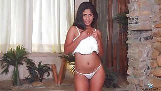 Hot cosset there lovely bum Daniela Rodriguez just enjoys tenderly tease herself