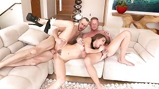 Jules Jordan coupled with Riley Reid are having a steamy threesome that includes anticipated ass fuck