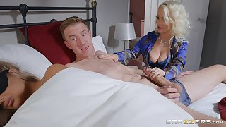 Petite Princess Eve does the nasty about her hung son-in-law