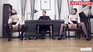 Fetish threesome near Alissa Noir - Cuckold Faggot Mating In advance Office near Hot Brunette - Babe